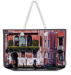the gondola ride on the many canals of Venice Weekender Tote Bag