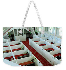 Weekender Tote Bag featuring the photograph The Good Book by James Kirkikis