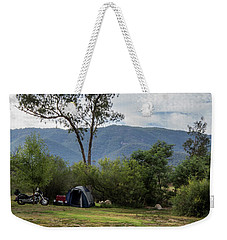 Weekender Tote Bag featuring the photograph The Good Life by Linda Lees