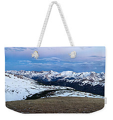 The Gore Range At Sunrise - Rocky Mountain National Park Weekender Tote Bag by Ronda Kimbrow