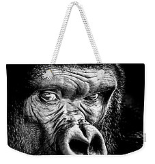 The Gorilla Large Canvas Art, Canvas Print, Large Art, Large Wall Decor, Home Decor Weekender Tote Bag by David Millenheft