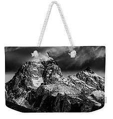 Weekender Tote Bag featuring the photograph The Grand Teton by Gary Lengyel