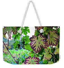 Weekender Tote Bag featuring the photograph The Grape Vine by Corinne Rhode