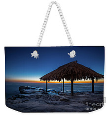 The Grass Shack At Windansea At Sunset Weekender Tote Bag