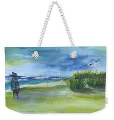 The Gray Man Visits Pawleys Island Sc Weekender Tote Bag
