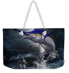 The Great Blue Marlin Weekender Tote Bag