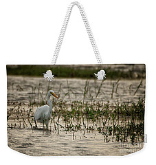 The Great Egret  Ardea Alba Syn  Casmerodius Albus  Weekender Tote Bag