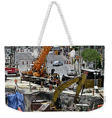 Weekender Tote Bag featuring the photograph The Great Ottawa Sink Hole by Stephanie Moore