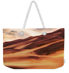 Weekender Tote Bag featuring the photograph The Great Sand Dunes Of Colorado - Landscape - Sunset by Jason Politte