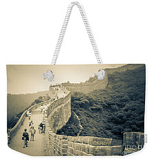 Weekender Tote Bag featuring the photograph The Great Wall Of China by Heiko Koehrer-Wagner