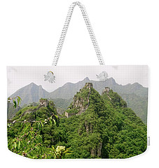 The Great Wall Of China Winding Over Mountains Weekender Tote Bag