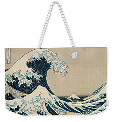 The Great Wave Of Kanagawa Weekender Tote Bag by Hokusai