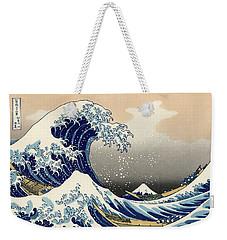 Weekender Tote Bag featuring the photograph The Great Wave Off Kanagawa by Katsushika Hokusai