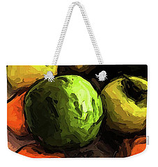 The Green And Gold Apples With The Orange Mandarins Weekender Tote Bag