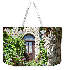 The Green Entrance Weekender Tote Bag by Yoel Koskas