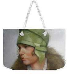 The Green Hat Weekender Tote Bag by Janet McGrath