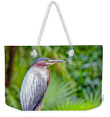 The Green Heron Weekender Tote Bag