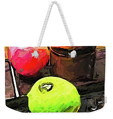 The Green Lime And The Apple With The Pepper Mill Weekender Tote Bag