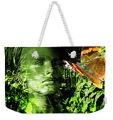 Weekender Tote Bag featuring the photograph The Green Man by LemonArt Photography