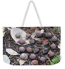Weekender Tote Bag featuring the photograph The Group by Marie Neder