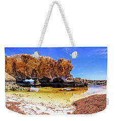 Weekender Tote Bag featuring the photograph The Guardian, Two Rocks by Dave Catley