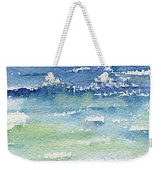 Weekender Tote Bag featuring the painting The Gulf by Kris Parins