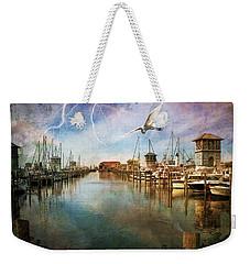 The Gulfport Egret Weekender Tote Bag