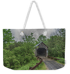 Weekender Tote Bag featuring the photograph The Halpin Covered Bridge by Guy Whiteley