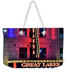Weekender Tote Bag featuring the photograph The Hanna Great Lakes Theater by Frozen in Time Fine Art Photography