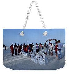 The Happy Couple - Married On The Beach Weekender Tote Bag