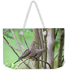 Weekender Tote Bag featuring the photograph The Happy Couple by Trina Ansel