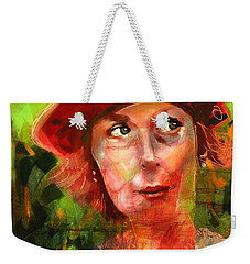 Weekender Tote Bag featuring the painting The Happy Gardener by Jim Vance