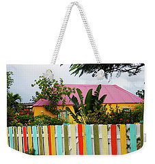 Weekender Tote Bag featuring the photograph The Happy House, Island Of Curacao by Kurt Van Wagner