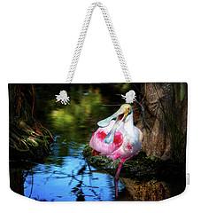 The Happy Spoonbill Weekender Tote Bag