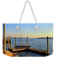 Weekender Tote Bag featuring the photograph The Harbor Bristol Rhode Island by Tom Prendergast