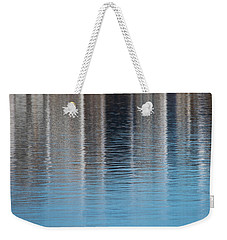 Weekender Tote Bag featuring the photograph The Harbor Reflects by Karol Livote