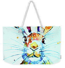 Weekender Tote Bag featuring the painting The Hare by Steven Ponsford