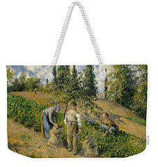 The Harvest, Pontoise, 1881  Weekender Tote Bag by Camille Pissarro