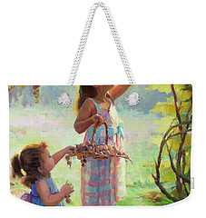 Weekender Tote Bag featuring the painting The Harvesters by Steve Henderson