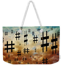 Weekender Tote Bag featuring the digital art The Hashtag Storm by Andee Design