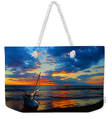 The Hawaiian Sailboat Weekender Tote Bag