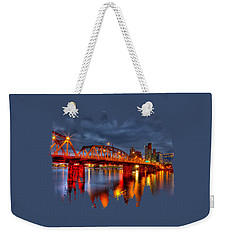 Weekender Tote Bag featuring the photograph The Hawthorne Bridge - Pdx by Thom Zehrfeld