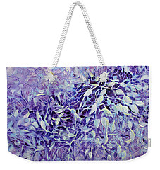 Weekender Tote Bag featuring the painting The Healing Power Of Amethyst by Joanne Smoley