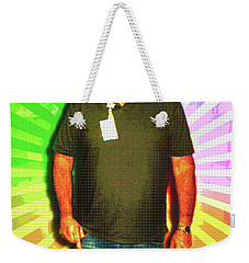 Weekender Tote Bag featuring the mixed media The Healing Smile Mosaic by Shawn Dall