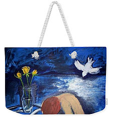 Weekender Tote Bag featuring the painting The Healing by Winsome Gunning