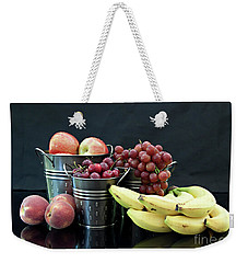 Weekender Tote Bag featuring the photograph The Healthy Choice Selection by Sherry Hallemeier