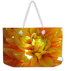 The Heart Of A Dahlia Weekender Tote Bag