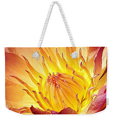 The Heart Of A Water Lily Weekender Tote Bag by Bruce Bley