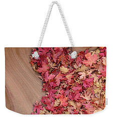 Weekender Tote Bag featuring the photograph The Heart Of Autumn by Dustin LeFevre