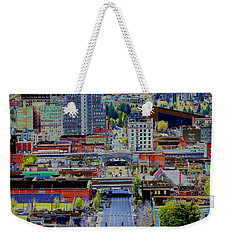 The Heart Of Downtown Spokane  Weekender Tote Bag